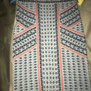 BCBG multicolored skirt